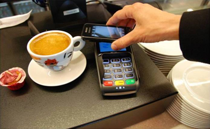 Near Field Communication (NFC) allows easy mobile payments.